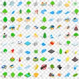 100 calamity icons set, isometric 3d style. 100 calamity icons set in isometric 3d style for any design vector illustration Stock Photography