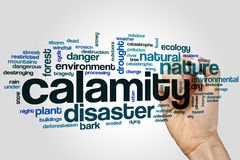 Calamity word cloud concept on grey background Royalty Free Stock Photo