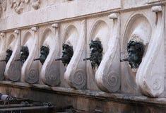 Calamo喷泉在安科纳 库存图片