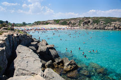 Calamosche Beach, near Noto in Sicily Stock Images
