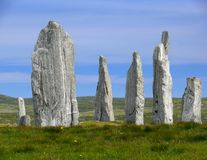 Calanais Blue. Calanais Stone Circle, Isle of Lewis, Scotland royalty free stock photography