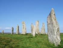 calanais callanish圈子常设石石头 免版税库存图片