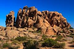 calanche红色岩石 库存图片