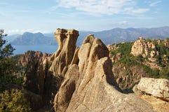calanchecorsica de piana rocks Royaltyfri Fotografi