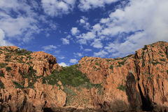 Calanches de Piana, Corse, France Royalty Free Stock Images