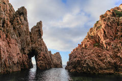 Calanches de Piana, Corse, Frankrike Arkivbilder