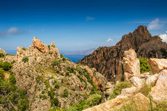 Calanches de Piana in Corsica Stock Photo