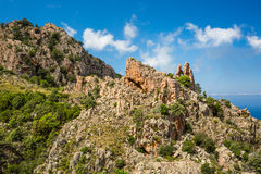 Calanches de Piana in Corsica Stock Images