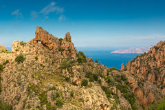 Calanches de Piana in Corsica Royalty Free Stock Photography