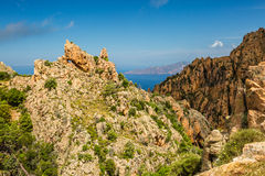Calanches de Piana in Corsica Stock Photography