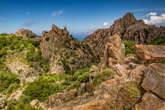 Calanches de Piana in Corsica Stock Photos