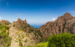 Calanches de Piana in Corsica Royalty Free Stock Photo