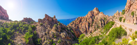 Calanches de Piana on the west coast of Corsica Stock Image