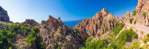Calanches de Piana on the west coast of Corsica Royalty Free Stock Photos