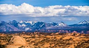Calanchi del canyon e lanadscape dei Colorado Rockies fotografie stock libere da diritti