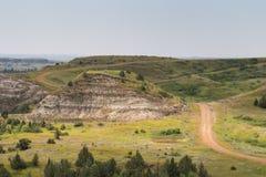 Calanchi del Nord Dakota Immagini Stock