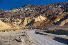 Calanchi del parco nazionale di Death Valley Fotografia Stock