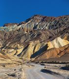 Calanchi del parco nazionale di Death Valley Fotografie Stock Libere da Diritti