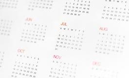 Calander com dia & mês imagens de stock royalty free