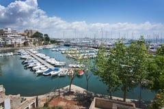 Calanova port olimpic Royalty Free Stock Photo