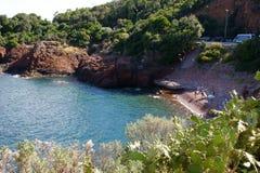 Calanque海滩 免版税库存图片
