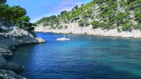 Calanque  of Cassis stock video