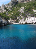 Calanque de cassis. On the french riviera, on a beautiful summer mistral day royalty free stock photo