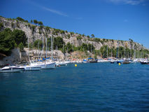 Calanque de cassis. On the french riviera, on a beautiful summer mistral day royalty free stock image