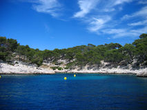 Calanque de cassis. On the french riviera, on a beautiful summer mistral day stock image