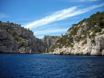 Calanque de cassis. On the french riviera, on a beautiful summer mistral day royalty free stock images