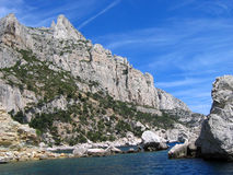 Calanque de cassis. On the french riviera on a beautiful sunny summer mistral day royalty free stock image