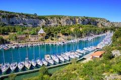 Calanque de Port Miou, Cassis, Frankreich Stockbild