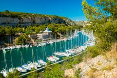 Calanque De Port Miou - Fjord Near Cassis Village, Provence, France Royalty Free Stock Image