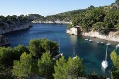 Calanque in de Provence Stock Foto's