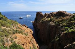 Calanque de Saint Barthelemy Royalty Free Stock Photography