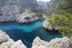 Calanque de Sugiton Stock Photos
