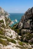 Calanque de Sugiton en Marsella Fotos de archivo