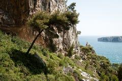 Calanque de Sugiton en Marsella Imagen de archivo libre de regalías