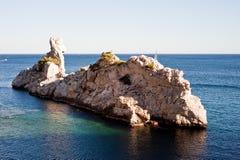 Calanque de Sugiton. Le Torpilleur - Sugiton Calanque in Marseille Royalty Free Stock Images