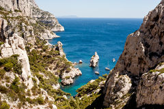 Calanque de Sugiton. In Marseille Royalty Free Stock Images