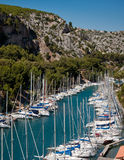 Calanque des Kanals-Miou Stockfoto