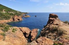 Calanque Du Petit Caneiret, Cote d Azur, Provence, Francja zdjęcia stock
