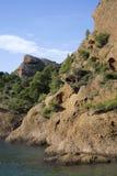 Calanque Figuerolles, Południowy Francja (los angeles Ciotat) Zdjęcie Royalty Free