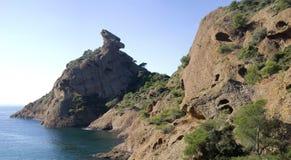 Calanque Figuerollesen (La Ciotat), sydliga Frankrike Arkivfoto