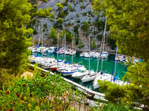 Calanque between Marseille and Cassis, Provence, France Royalty Free Stock Photo