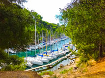 Calanque between Marseille and Cassis, Provence, France Royalty Free Stock Photography