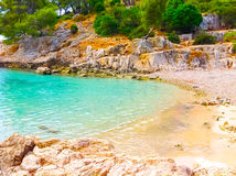 Calanque between Marseille and Cassis, Provence, France Stock Photos