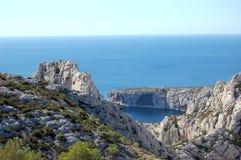 The calanque (Marseilles-Luminy) Stock Photo