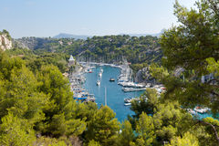Calanque of Port Miou in Cassis Royalty Free Stock Image