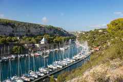 Calanque of Port Miou in Cassis Royalty Free Stock Images